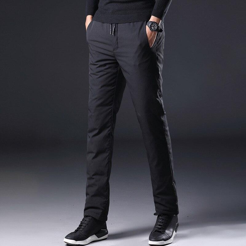 Pantalon en velours chaud pour hommes, automne et hiver, pantalon d'extérieur imperméable
