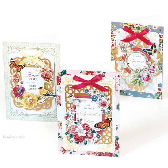 Eno Greeting Birthday Card Kit Gift 3 Cards N Envelopes Retro Scrapbooking Making DIY