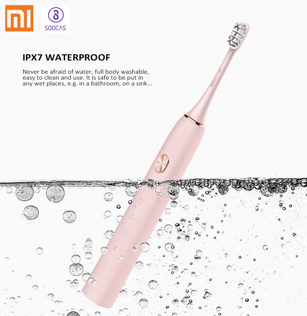 Xiaomi SOOCAS X3 Upgraded Rechargeable Sonic Electric Toothbrush IPX7 Waterproof Wireless Charge Mi Home APP 4 Brushing Modes
