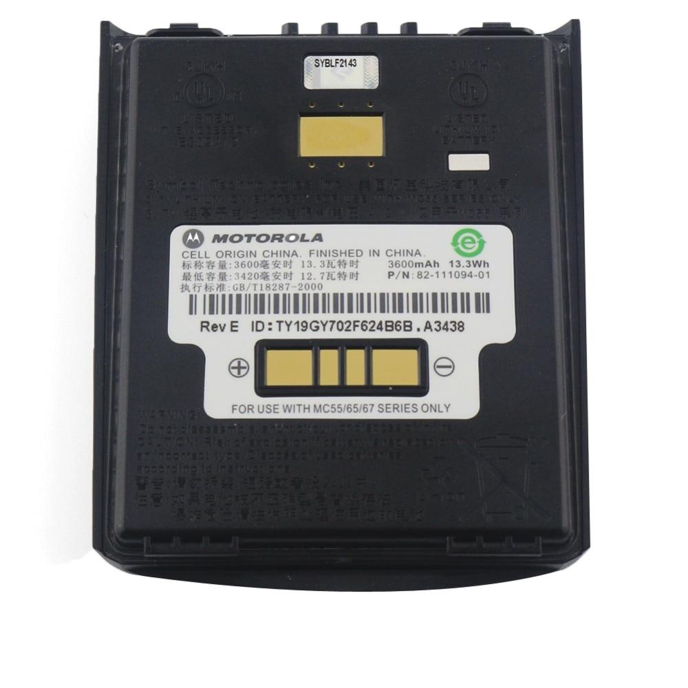 3 7V 3600mAh Battery For Symbol MC55 MC55A MC55N MC65 MC67 MC659B MC5590 PDA Spare Parts