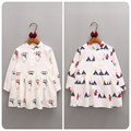 2016 Autumn Korean New Pattern Girl Children's Garment Cartoon Printing Long Sleeve Dress Girl Baby A Doll  Jacket