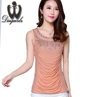 New Fashion Summer Ladies Tops 2017 Blusa Women S Vest Shirt Slim Women Clothing Sexy Diamond
