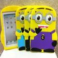 Nueva 3D Linda de Despicable Me 2 Minion Amarillo Suave de Silicona de goma cubierta de shell para apple ipad 2 3 4 9.7 ''Tablet