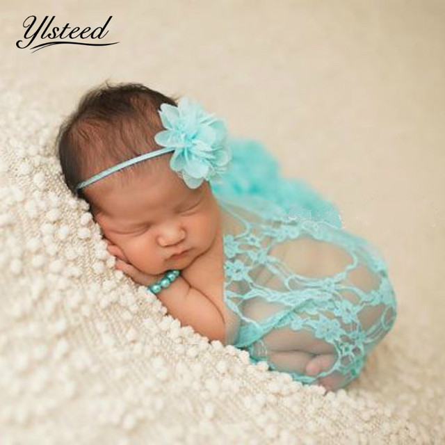 Newborn stretch lace wrap baby photography props embroidery floral newborn photography wraps props infant photo props