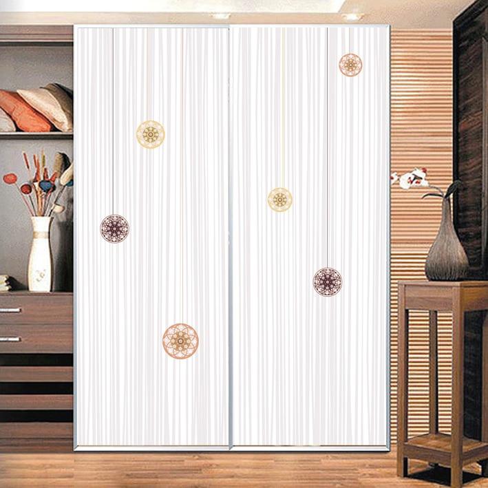 pvc 3d del fiore di colore elegante modello di linea velo di vetro opaco bagno porte