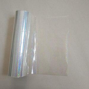 Image 1 - Folia holograficzna przezroczysty wzór punktu kryształowego tłoczenie folia tłoczenia na gorąco na papierze lub plastikowa folia transferowa