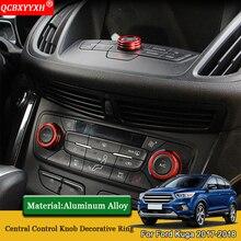 QCBXYYXH автомобильный-Стайлинг центральный контроль воздуха условное управление переключатель ручки корпуса кольцо авто аксессуары Подходит для Ford Kuga 2017 2018