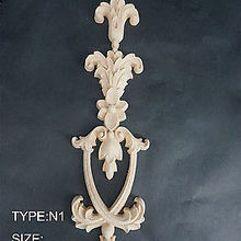 N1-31x10x1 см Деревянные Резные длинные накладка аппликация Неокрашенный рама, дверь наклейка рабочих плотник украшения