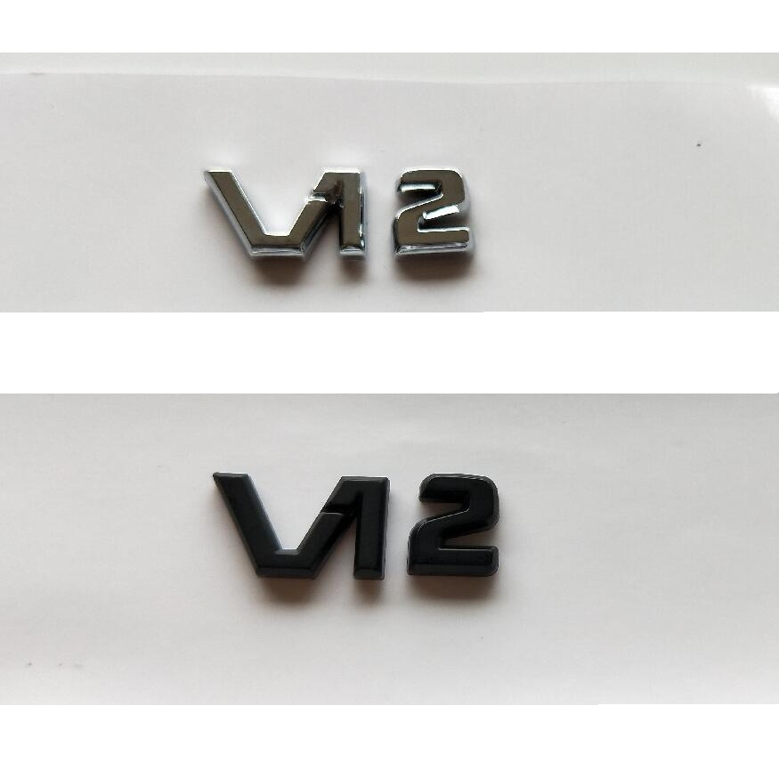 V12 Adhesive Chrome Decals