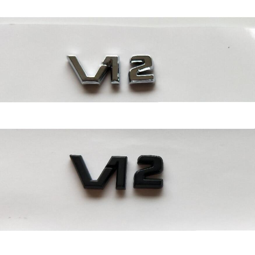 Chrome Black V12 V 12 Letters Interior Center Console Badges Emblems Emblem Badge for Mercedes Benz MAYBACH S500L S600L S63 AMG emblem
