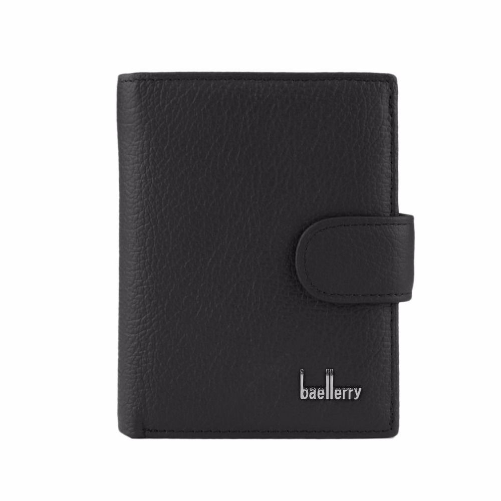 Baellerry Multifunctiona Men Genuine Leather Wallet Man Credit Business Card Holders Purse Short Type Carteira Money Male B macygraymg real crocodile leather wallet man purse business purse men leisure wallet men short wallet