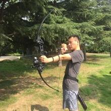 30/40 lbs قوس منحني في الهواء الطلق الأمريكية قوس الصيد للرماية الصيد ممارسة اطلاق النار الصيد الملحقات