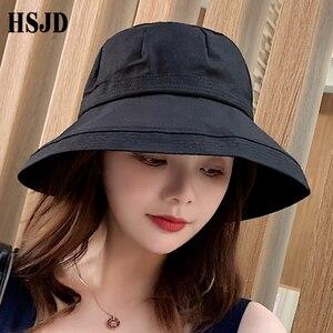 Image 5 - 2019 ใหม่ภาษาฝรั่งเศสคำผ้ากว้าง Brim Sun หมวกชาวประมงฤดูร้อนหญิงหมวกกลางแจ้งเดินทาง Solid หมวก Anti UV Beach หมวก