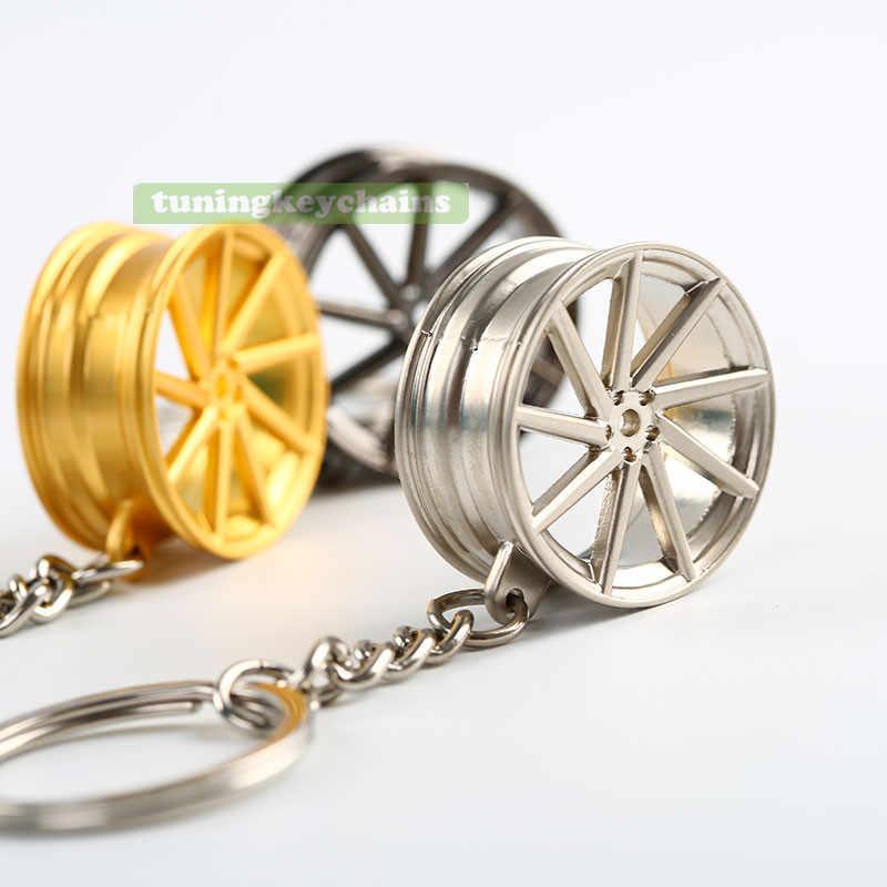 Лот 5 шт. новый сплав Авто обод колеса мини брелок кулон CVT дизайн
