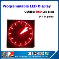 Красный Цвет водонепроницаемый P10 светодиодная электронная доска квадратный светодиодный дисплей модуль сообщение картинка знак 64*64 пиксе