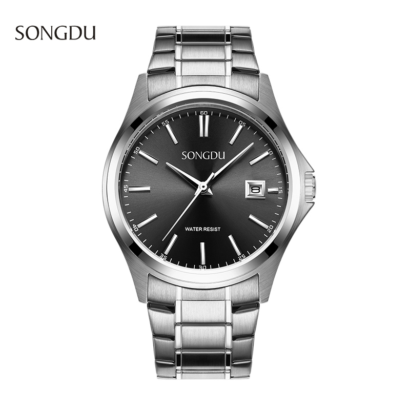 Mens Watches Top Brand Luxury SONGDU Watch Quartz Waterproof Wristwatch Steel Band Calendar Hour Male Fashion Business Clock Hot new curren men wrist watches top brand luxury man wristwatch full steel silver strap mens quartz watch calendar male hour clocks