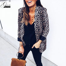 Gold Hands Autumn Winter Women Street Wear Long Sleeves Leopard Jacket Snake Open Stitch Coats and Jackets Women Free Shipping(China)
