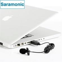 Saramonic ulm5 gravação de lapela microfone clip-on lapela omnidirecional microfone condensador para macbook pro air computadores pc laptop
