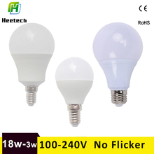 Led bulb E27 Led Lamp E14 Led b22 110V 220V 18w 15w 12w 9w-3w LEDs Warm/Cold White For Home Chandeliers Table Lamp