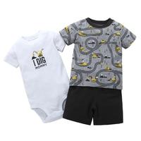 20fbb7d50f444 Summer Baby Boy Clothes Set Short Sleeve T Shirt Tops Rompers Shorts  Newborn Outfit Infant Clothing. US  15.55 US  10.11. Été vêtements pour  petit garçon ...