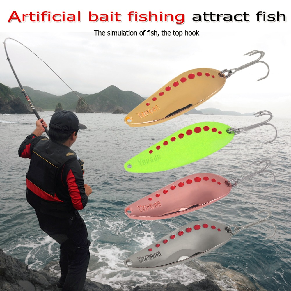 YAPADA Lifelike Fishing Lure 7.5g/10g/15g/20g Professional Zinc Alloy Hard Bait Spoon 004 Sequin Fishing Tackle Newest lucky john croco spoon big game mission 24гр 004