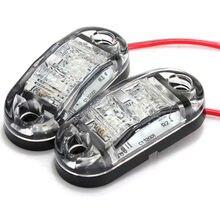 2 шт. 12 В светодио дный светодиодный автомобиль боковой маркер задний фонарь белый цвет В 24 в прицеп грузовик лампа 4 шт. винты