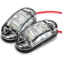 2Pcs 12V LED Car Side Marker Tail Light White color 24V Trailer Truck Lamp 4 pcs screws