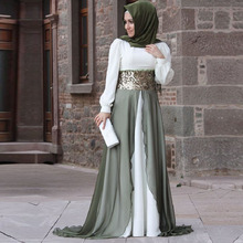 2016 Islamic Formal Long Sleeves Chiffon Muslim Evening Dress Turkish Women Clothing Robe Gowns For Hijab Styles Women Abaya