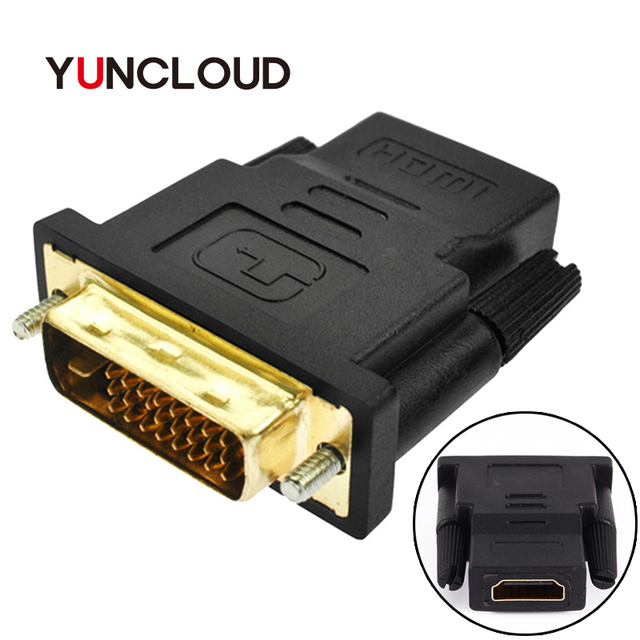 YUNCLOUD 1080P HDMI to DVI 24+1 Adapter Cable Female to Male Switcher Video Converter for PC Computer PS3 Projector TV Box