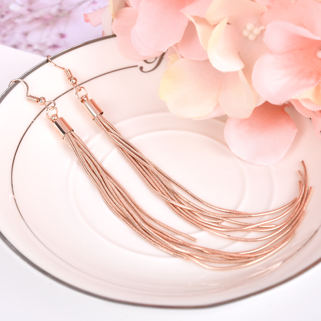 Jiayiqi Vintage Long Earrings Silver color Tassel Earrings High Quality Earrings Fashion Jewelry for Women Best Gift 2018 3