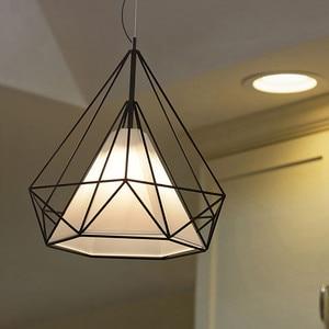 Image 5 - Modern Iron painted industrial Chandeliers E27 diamond Chandelier LED 220V Lighting for living room kitchen bedroom bar hotel
