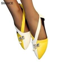 SAGACE; женские модные повседневные сандалии с острым носком в римском стиле с ремешком на щиколотке и молнией сзади; обувь на плоской подошве; пикантная женская обувь высокого качества