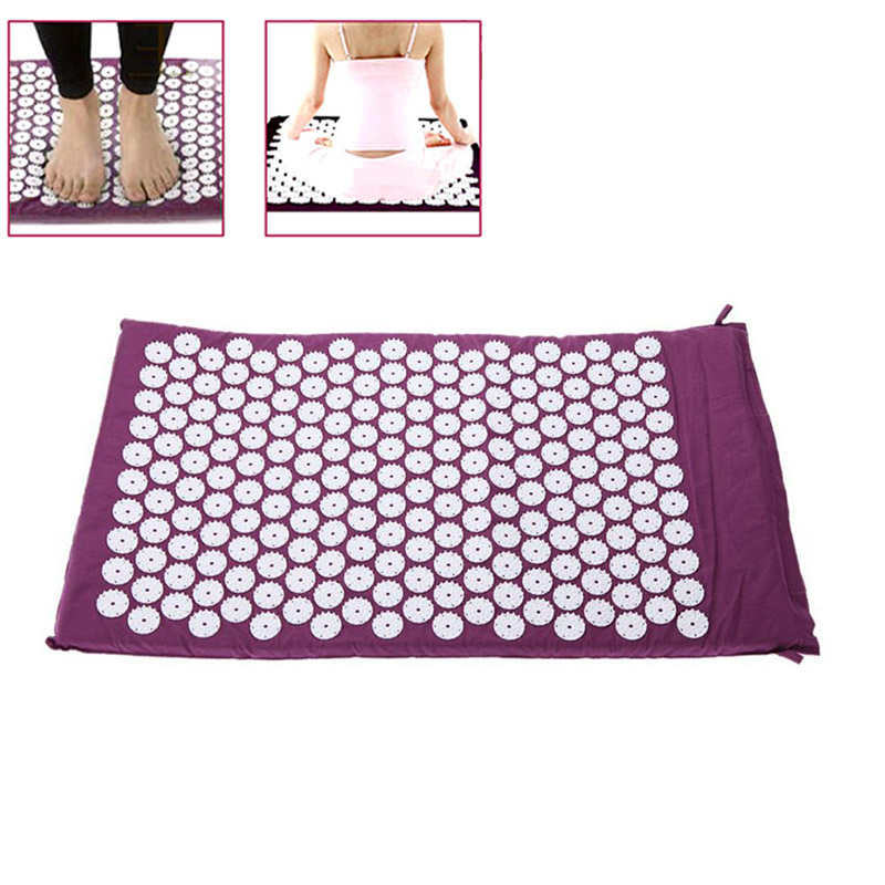 Massage Cushion Acupressure Mat Relieve Stress Pain Acupuncture Spike Yoga Mat with Pillow/ Without Pillow FM88 povihome 1set massage cushion acupressure therapy mat relieve stress pain relief acupuncture spike yoga mat with pillow d06874