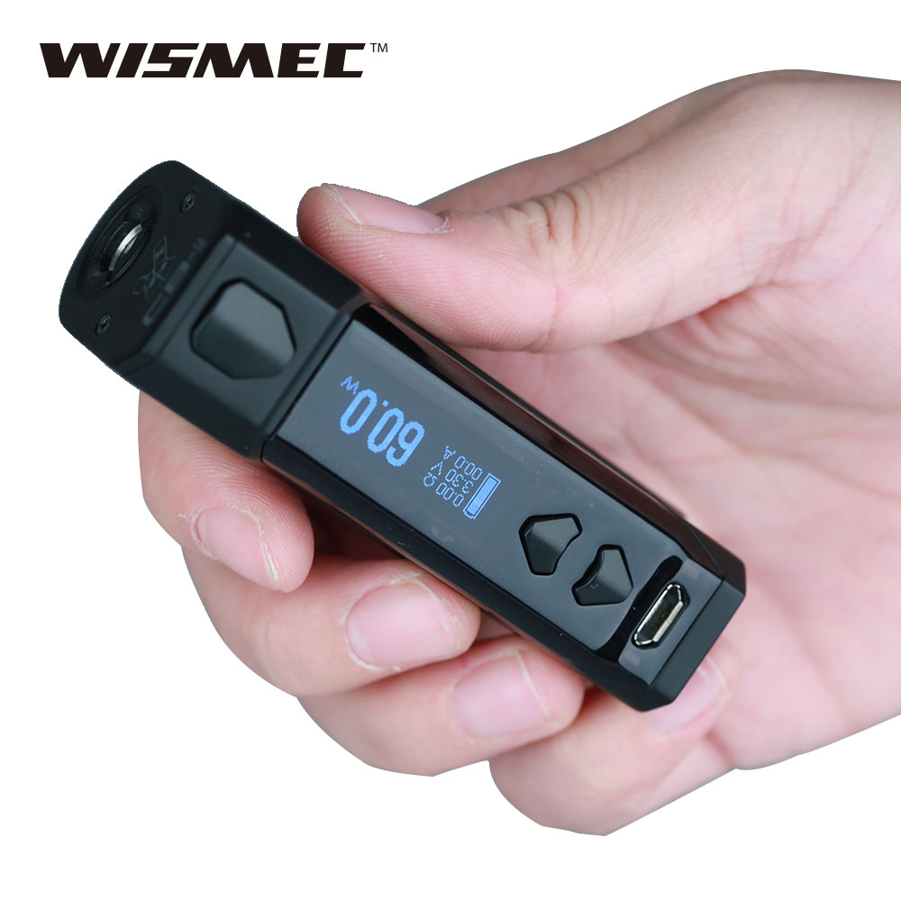 Original WISMEC CB-60 VW Box MOD with Built-in 2300mAh Battery Maximum 60W Output Best for AMOR NS Atomizer E-cigarette Vape Mod clearance original 60w digiflavor df 60 tc mod with 1700mah built in battery max 60w output electronic cigarette vape box mod