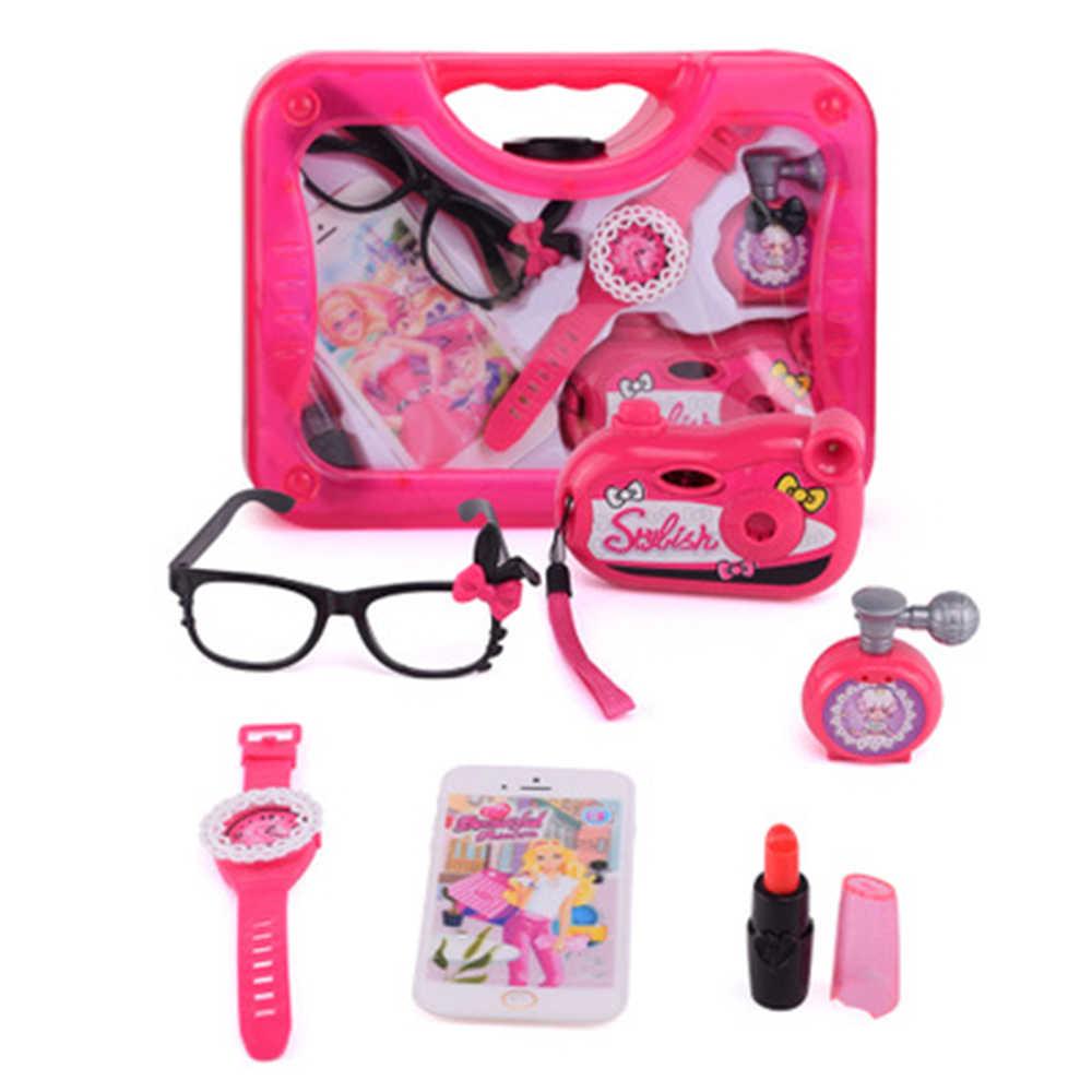 Игрушки для девочек, набор для макияжа, ролевые игры, игрушки для моделирования, косметичка для красоты, Парикмахерская игрушка, набор инструментов для макияжа, детские игрушки принцессы