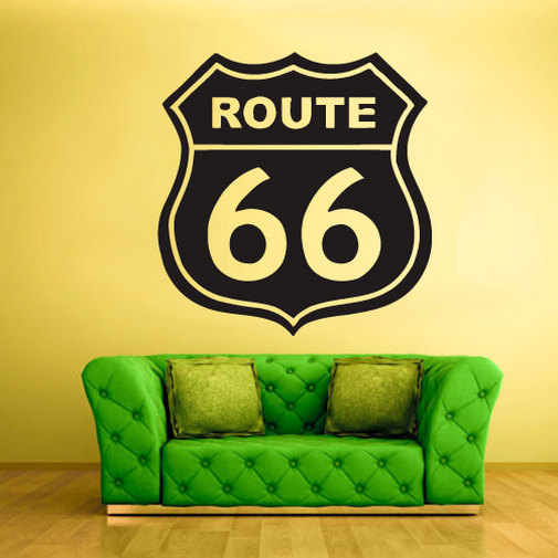 Road Signs Wall Decal Quotes Route 66 Vinyl Removable Wall Stickers Highway  Symbol Home Decor For Kids Rooms Nursery MuralSYY870 In Wall Stickers From  Home ...