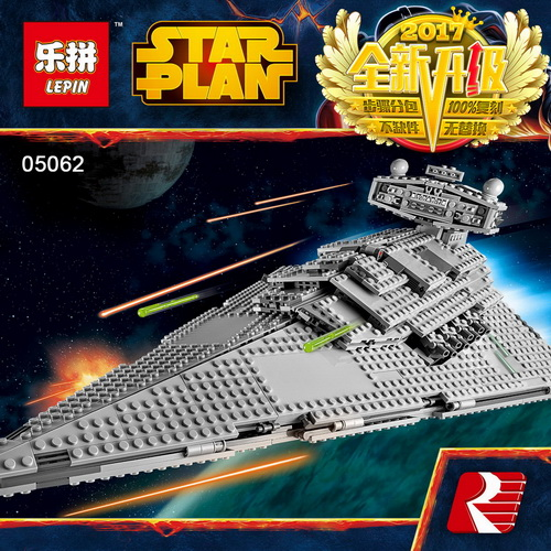 Lepin 05062 Star Series War The Super Star Fighting Destroyer Set Educational Building Blocks Bricks Compatible Toy Gift 75055 05028 star wars execytor super star destroyer model building kit mini block brick toy gift compatible 75055 tos lepin