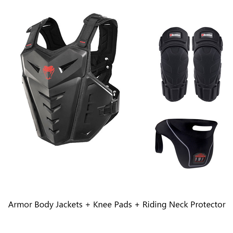 New Riding Bicycle Set Cycling Equipment Riding Bike Armor Body Jackets + Knee Pads + Riding Neck Protector scoyco motorcycle riding knee protector bicycle cycling bike racing tactal skate protective gear extreme sports knee pads