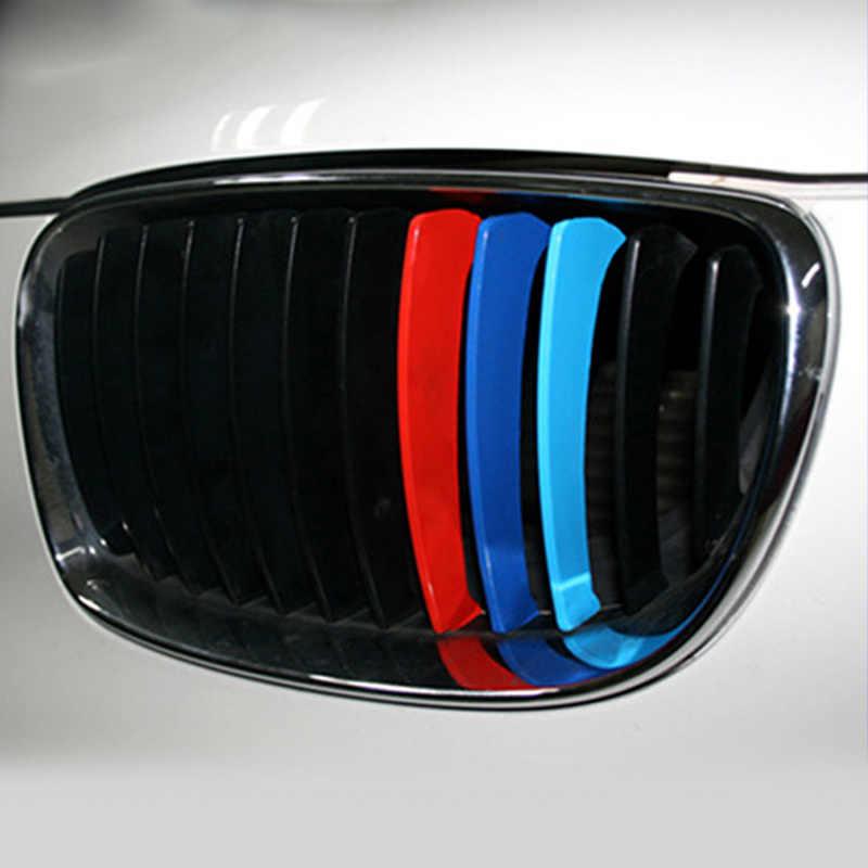 3PCs Rene Griglia Sticker 25x5 centimetri di Sport Della Banda 3 Colori Rosso Blu e Profondo Blu per BMW m3 M5 M6 E46 accessori auto