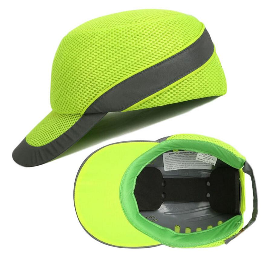 Bump Cap Work Safety Helmet With Reflective Stripe Summer Breathable Security Anti-impact Light Weight Helmets Protective Hat bump cap work safety helmet with reflective stripe summer breathable security anti impact light weight helmets protective hat