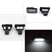 2pcs License Plate Lights Plug-N-Play Xenon White Led Number For Benz Car C E CLS Class W203 W211 W219 E550 E350 Auto Lamp недорого