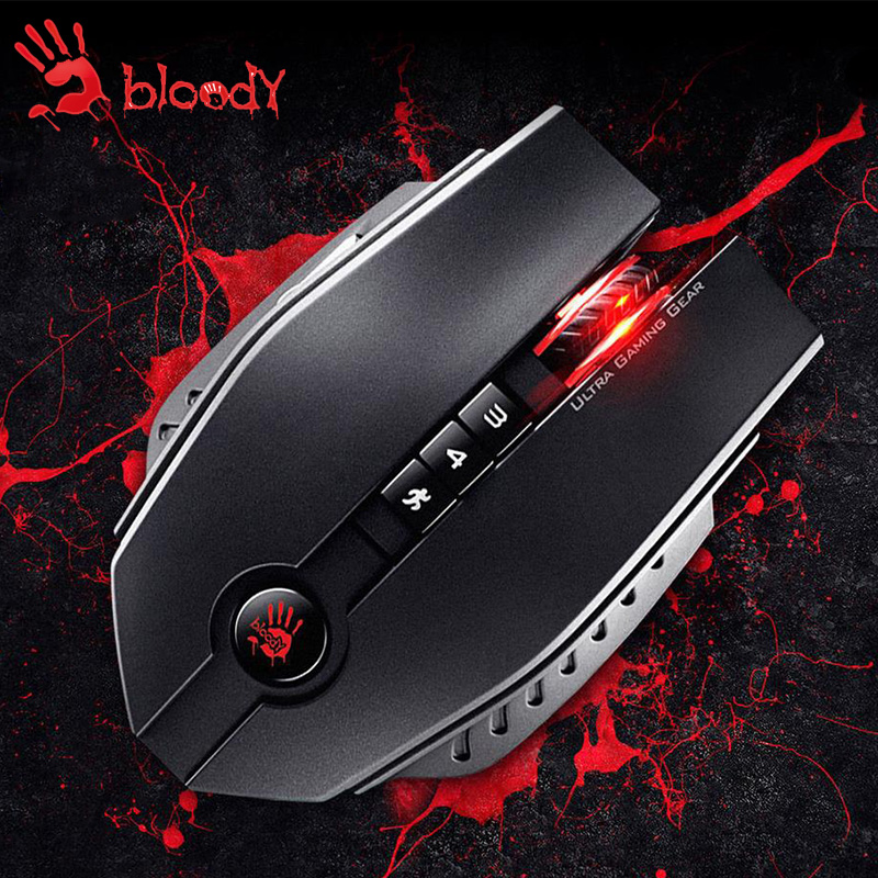 все цены на  A4tech Bloody ZL50 professional gaming mouse 8200 DPI LOL Dota CF game mice FPS RPG mouse gaming computer USB Wired mouse gamer