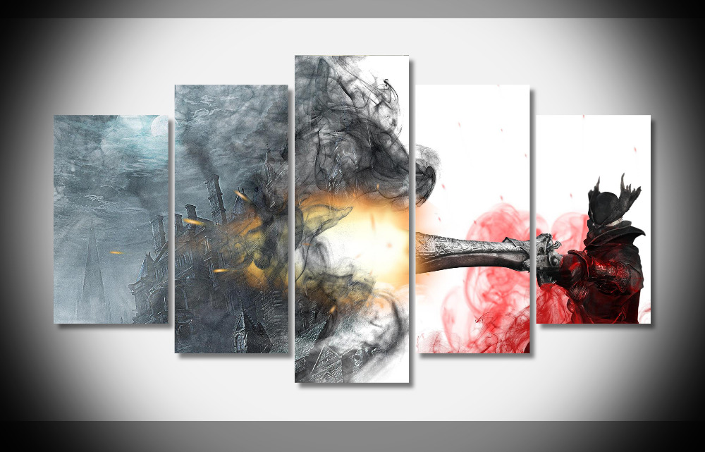 8370 BloodBorne poster Framed Gallery wrap art print home wall decor  wall picture Already to hung digital print wholesale  8370 BloodBorne poster Framed Gallery wrap art print home wall decor  wall picture Already to hung digital print wholesale