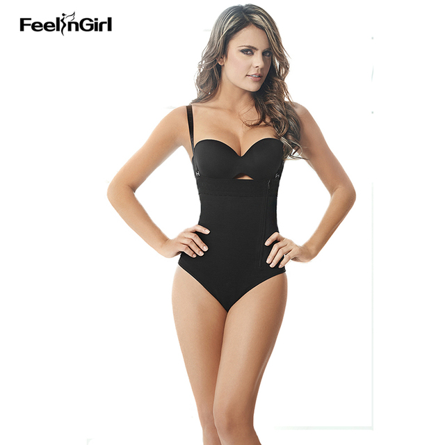 473e886992d42 FeelinGirl Slimming Bodysuits Side Zipper Body Shapers for Women Shapewear  Waist Cincher Full Body Gaine Amincissante Ventre A