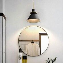 купить Modern nordic simple lron wall lamp fixture creative LED living room bathroom lamp bedroom bedside lamp stairway aisle lights онлайн