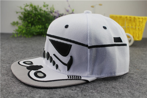 2015 new STAR WARS fashion baseball hat Stormtrooper style man women  snapback cap High quality canvas+paper letter brimmed hats-in Baseball Caps  from ... 1c709e07639
