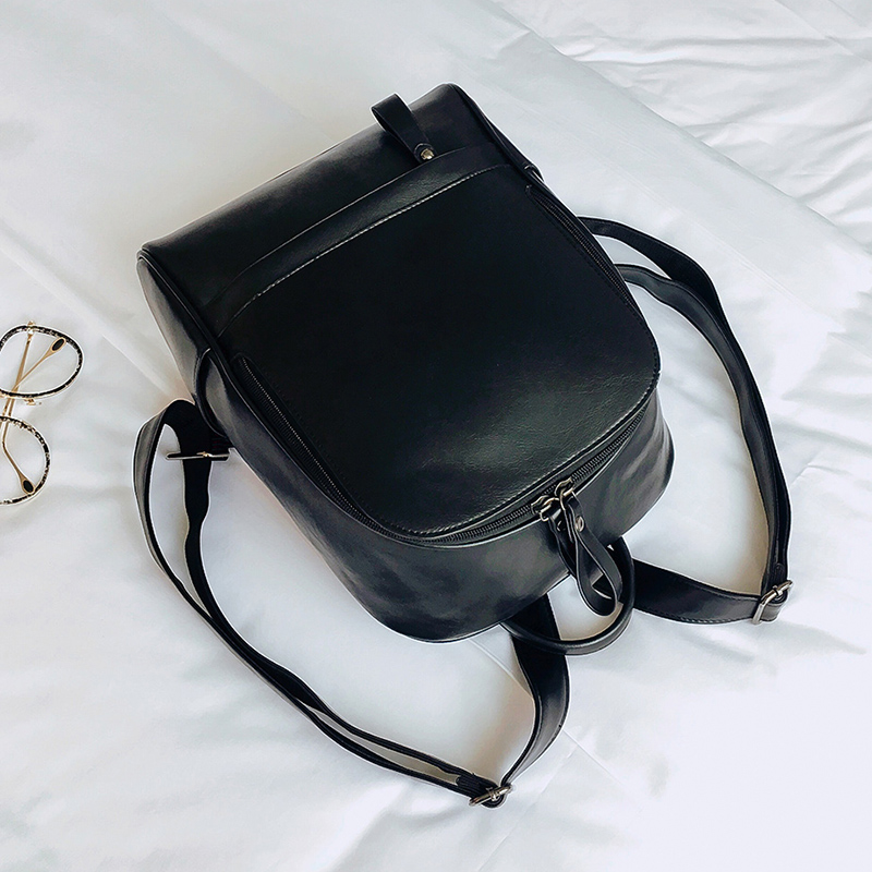 c4569b4786 MENGXILU Women PU Leather Backpack Special Cool Zipper Big Bag Simple  School Backpack For Girls Multifunction Sac A Dos Femme-in Backpacks from  Luggage ...