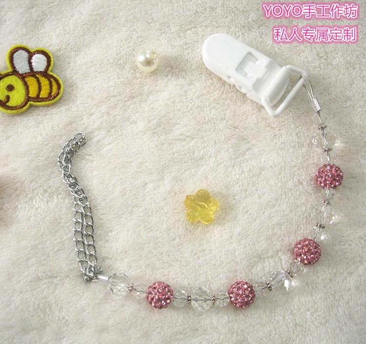 MIYOCAR Bedøvelse Prinsesse pink bling krystal håndlavet pacifier - Fodring et barn - Foto 2