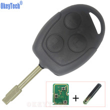 Compare Prices OkeyTech New 3 Buttons Remote Key Smart Car Key Fob For Ford Mondeo Focus Transit Full Complete Key 433MHZ 4D60 Transponder Chip