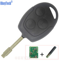 OkeyTech New 3 Buttons Remote Key Smart Car Key Fob For Ford Mondeo Focus Transit Full